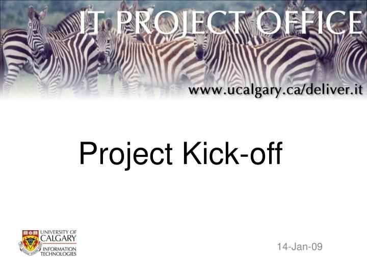 project kick off n.