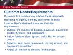 customer needs requirements