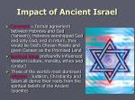 impact of ancient israel