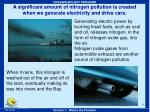 a significant amount of nitrogen pollution is created when we generate electricity and drive cars
