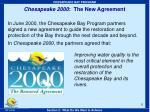 chesapeake 2000 the new agreement