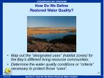 how do we define restored water quality