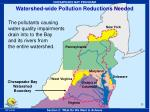 watershed wide pollution reductions needed