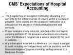 cms expectations of hospital accounting