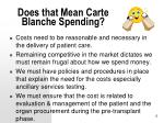 does that mean carte blanche spending