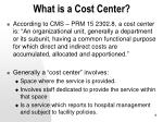 what is a cost center