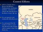 control efforts