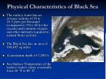 physical characteristics of black sea