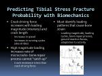 predicting tibial stress fracture probability with biomechanics