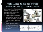 probalistic model for stress fracture tibial contact force