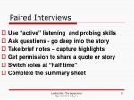 paired interviews