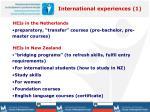 international experiences 1