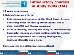 introductory courses in study skills fm