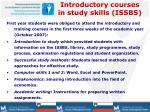 introductory courses in study skills issbs
