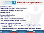 some data analysis fm 1