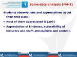 some data analysis fm 21