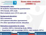 some data analysis issbs 1