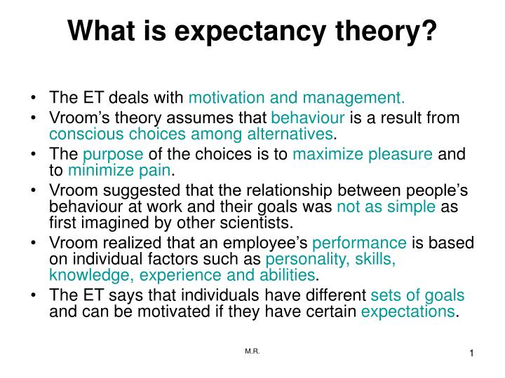 what is expectancy theory n.