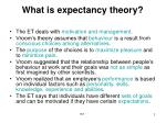 what is expectancy theory