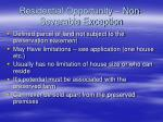 residential opportunity non severable exception