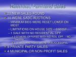 restricted farmland sales