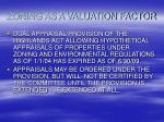 zoning as a valuation factor