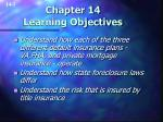 chapter 14 learning objectives