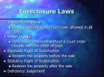 foreclosure laws