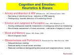 cognition and emotion heuristics biases