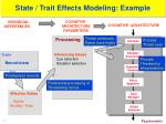 state trait effects modeling example