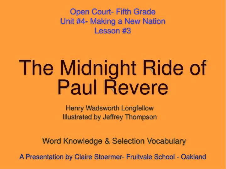the midnight ride of paul revere n.
