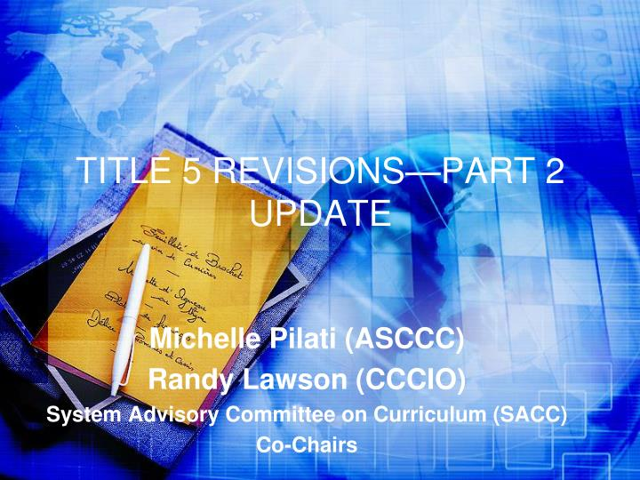 title 5 revisions part 2 update n.