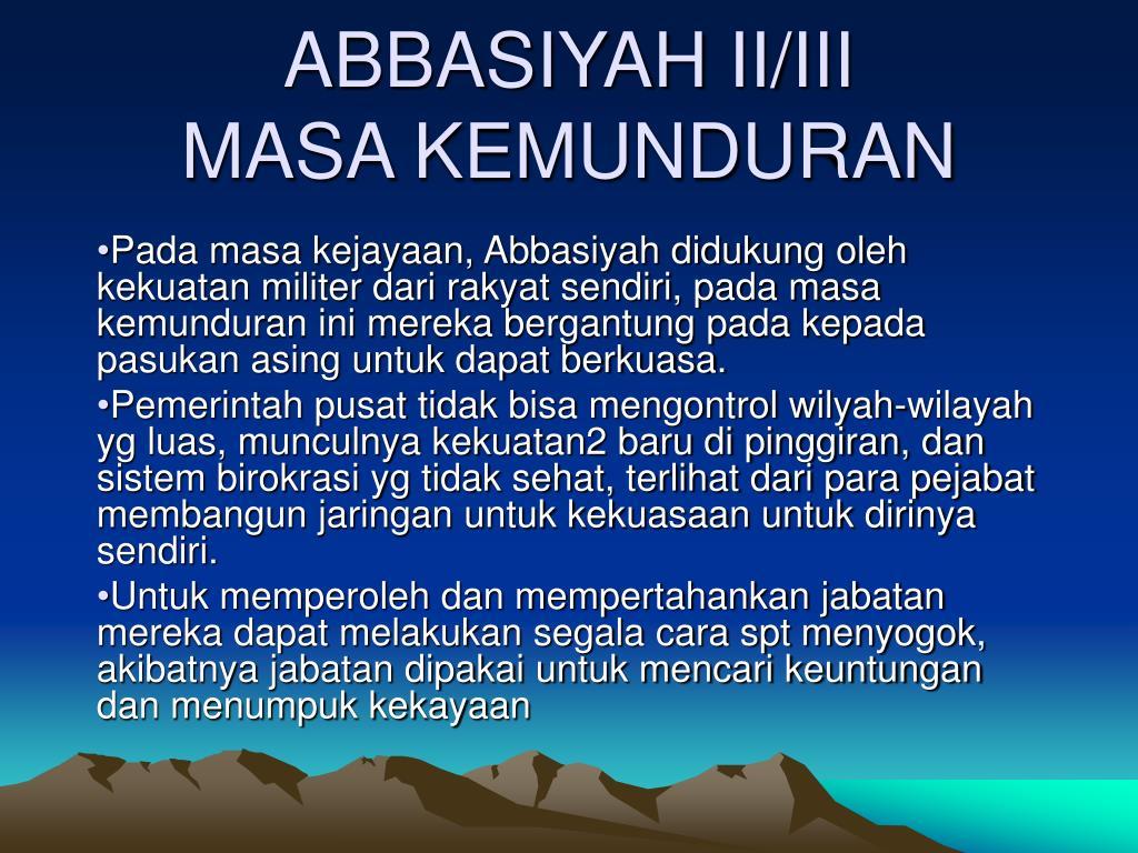 abbasiyah ii iii masa kemunduran l.