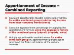 apportionment of income combined reporting