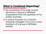 what is combined reporting