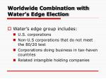 worldwide combination with water s edge election