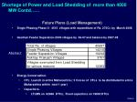 shortage of power and load shedding of more than 4000 mw contd1