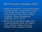 akhir kerajaan kerajaan islam