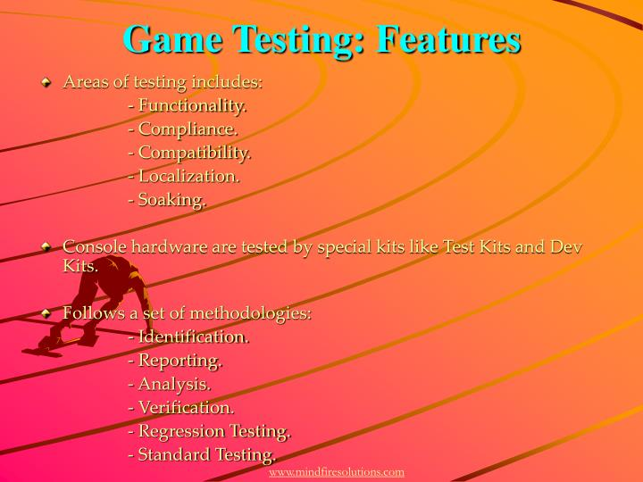 Game testing features
