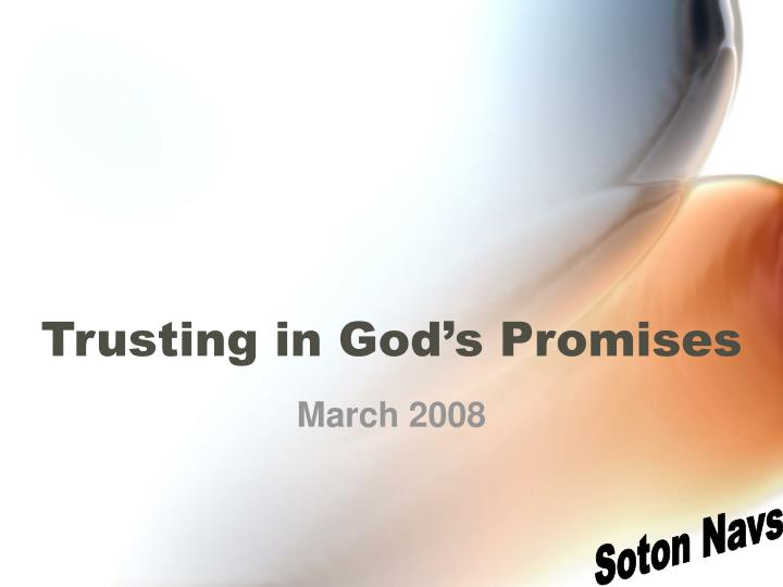 trusting in god s promises n.