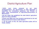 district agriculture plan