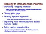 strategy to increase farm incomes