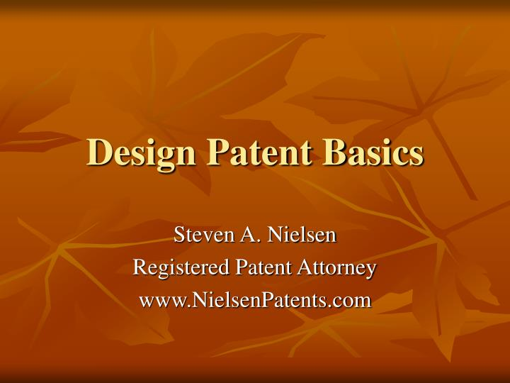 design patent basics n.