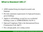 what is standard 189 1