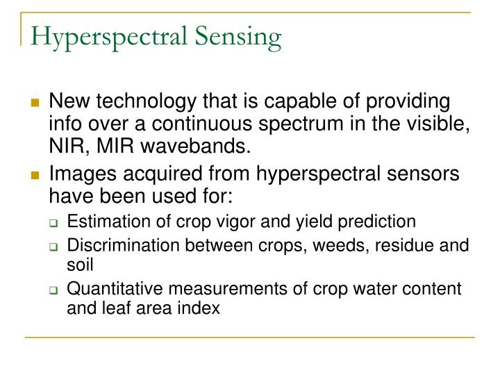 Hyperspectral Sensing
