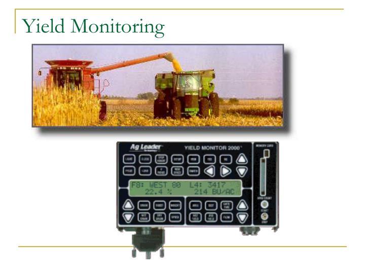 Yield Monitoring