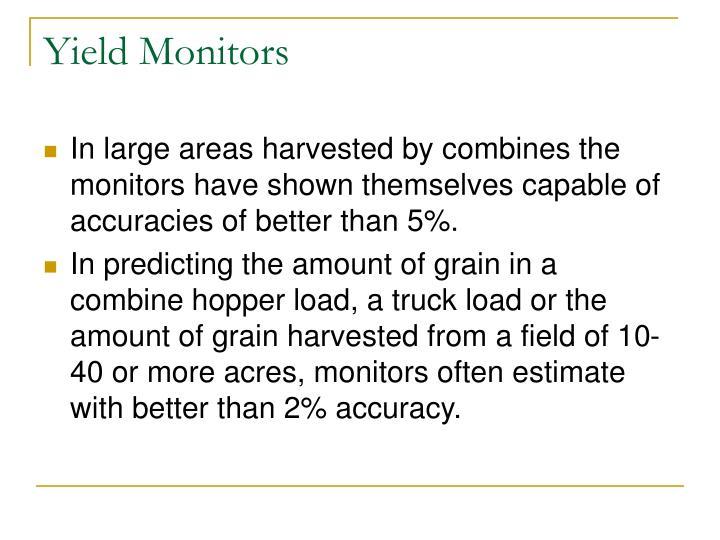 Yield Monitors