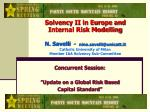 concurrent session update on a global risk based capital standard