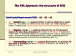 the fsa approach the structure of ecr
