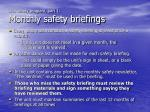 unit safety program part 1 monthly safety briefings